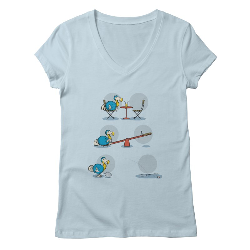 The Last Dodo Women's V-Neck by Candy Guru's Shop