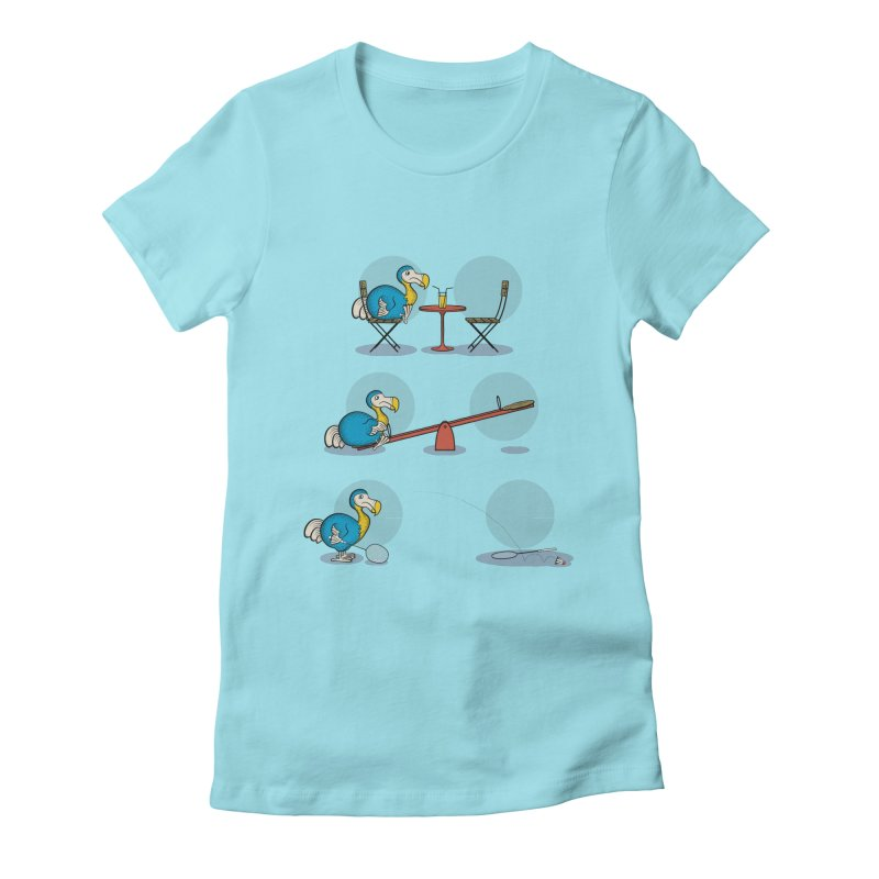 The Last Dodo Women's Fitted T-Shirt by Candy Guru's Shop