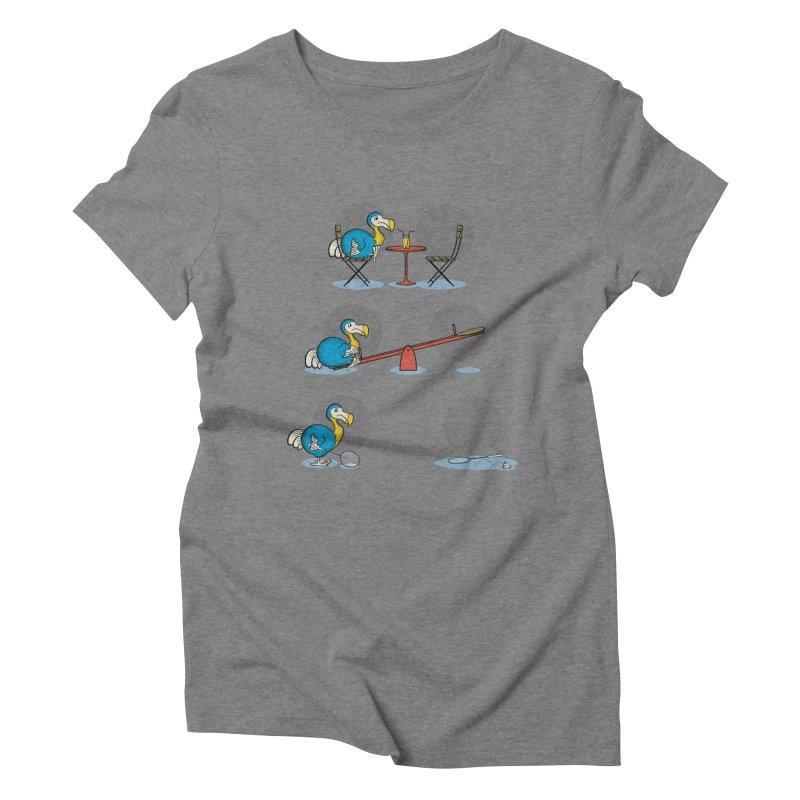 The Last Dodo Women's Triblend T-Shirt by Candy Guru's Shop