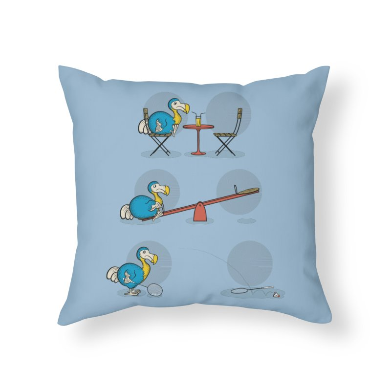 The Last Dodo Home Throw Pillow by Candy Guru's Shop