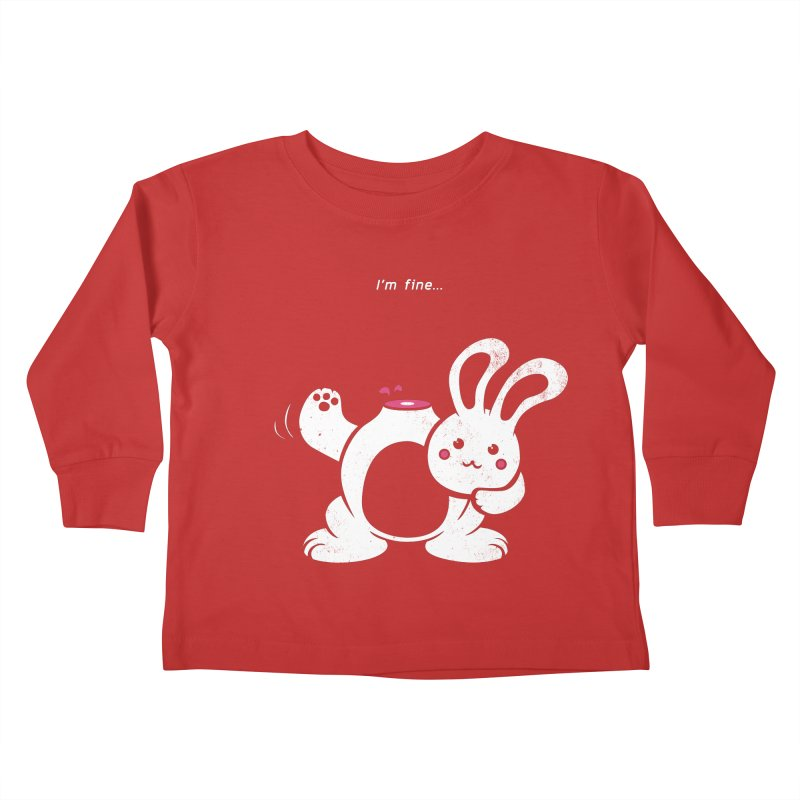 I'm Fine Kids Toddler Longsleeve T-Shirt by Candy Guru's Shop