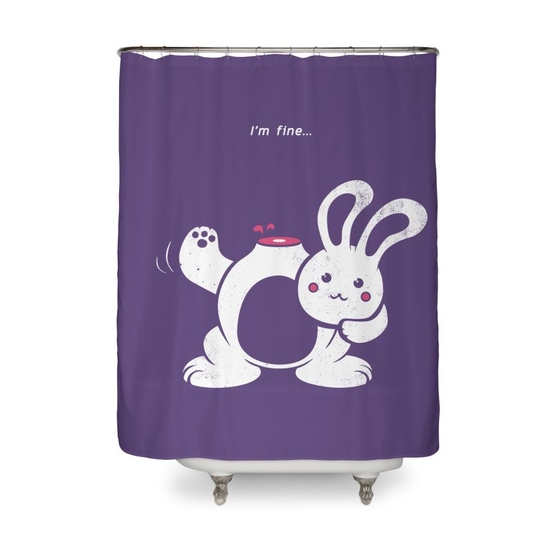 I'm Fine Home Shower Curtain by Candy Guru's Shop