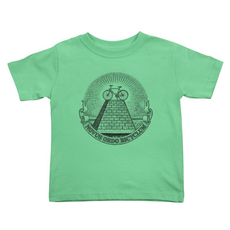 Novus Ordo Bicyclum Kids Toddler T-Shirt by Candy Guru's Shop