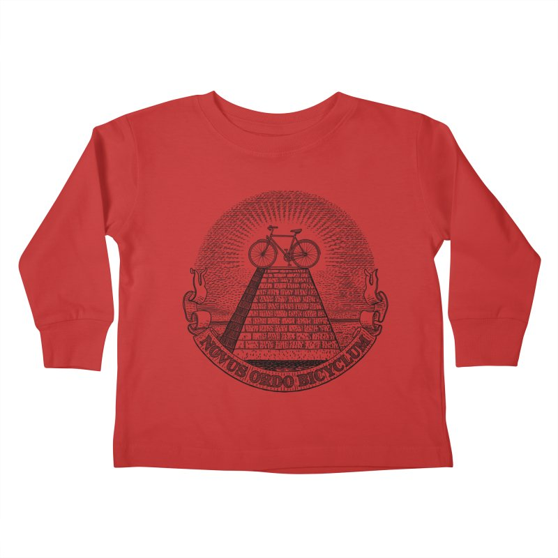 Novus Ordo Bicyclum Kids Toddler Longsleeve T-Shirt by Candy Guru's Shop