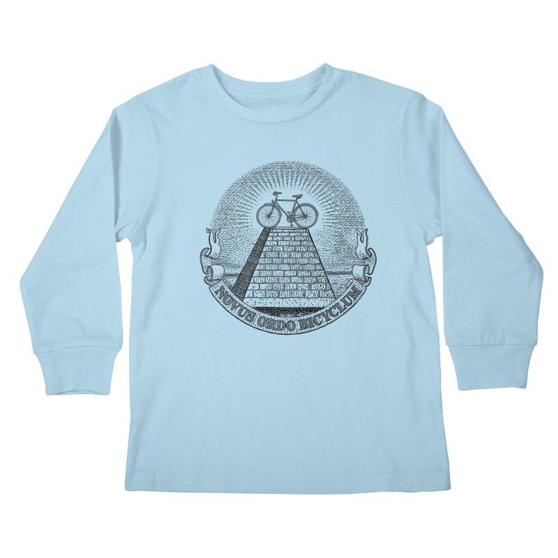 Novus Ordo Bicyclum Kids Longsleeve T-Shirt by Candy Guru's Shop