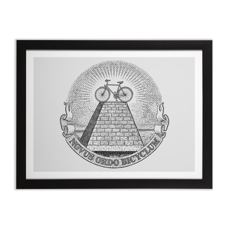 Novus Ordo Bicyclum Home Framed Fine Art Print by Candy Guru's Shop