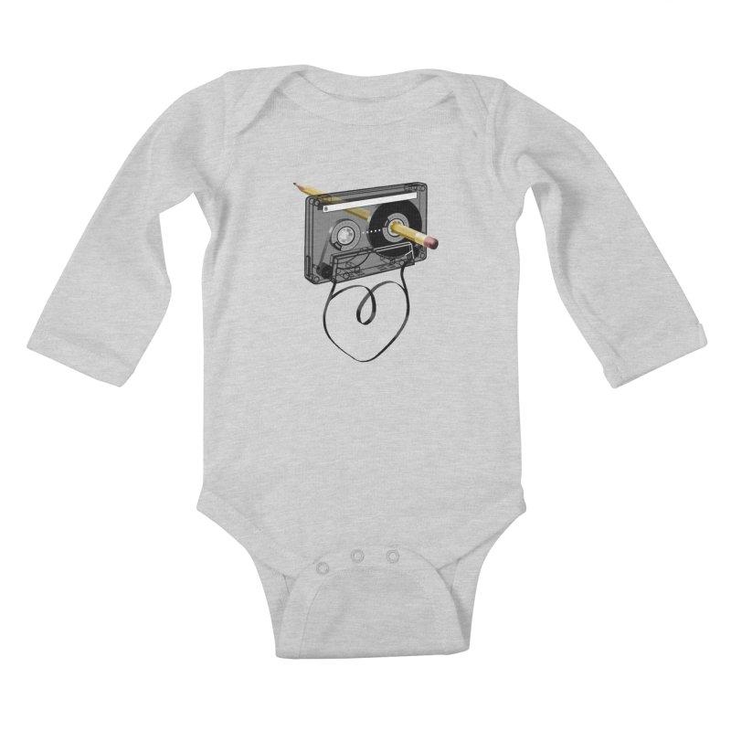 LOOPY Kids Baby Longsleeve Bodysuit by capncrushalot's Shop