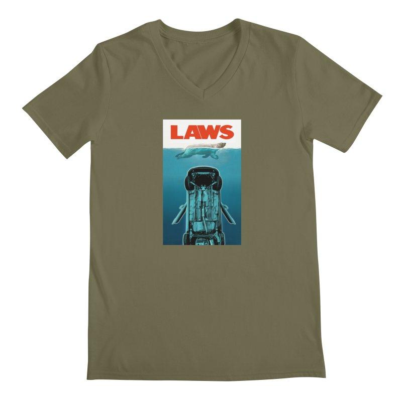 LAWS Men's V-Neck by capncrushalot's Shop