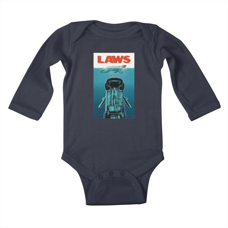 LAWS Kids Baby Longsleeve Bodysuit by capncrushalot's Shop