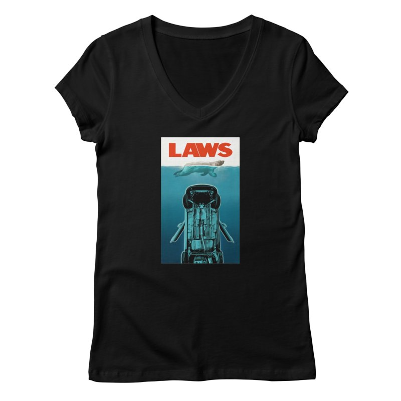 LAWS Women's V-Neck by capncrushalot's Shop