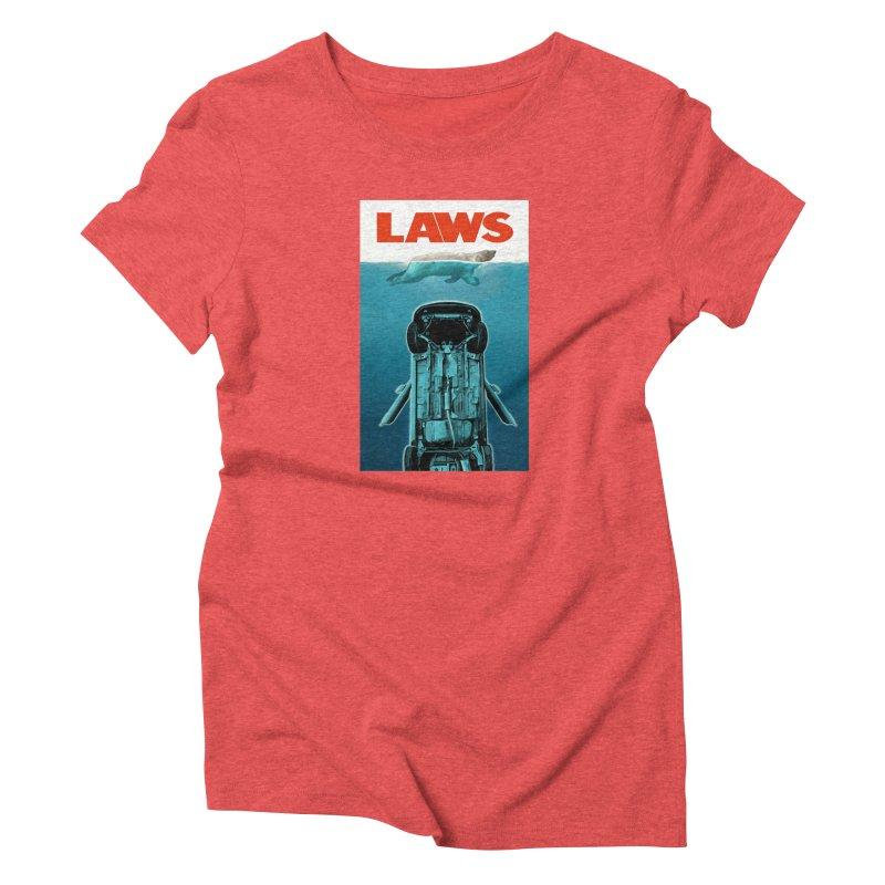 LAWS Women's Triblend T-shirt by capncrushalot's Shop
