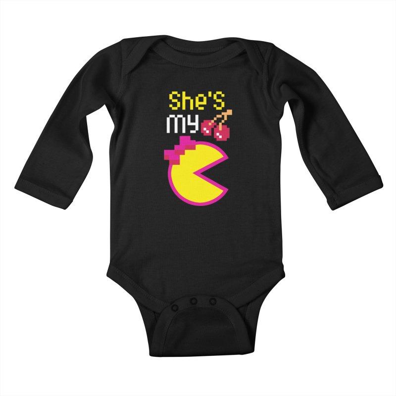My Cherry Pie Kids Baby Longsleeve Bodysuit by capncrushalot's Shop