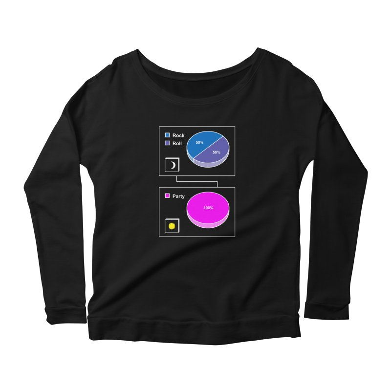 Rock&RollPartyPies Women's Longsleeve Scoopneck  by capncrushalot's Shop