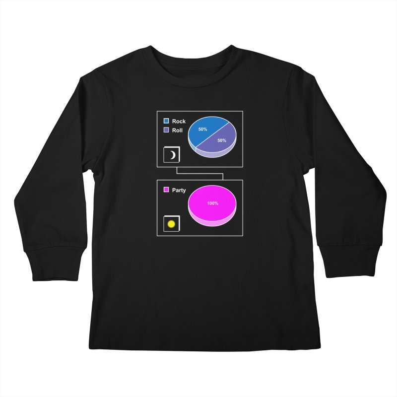 Rock&RollPartyPies Kids Longsleeve T-Shirt by capncrushalot's Shop