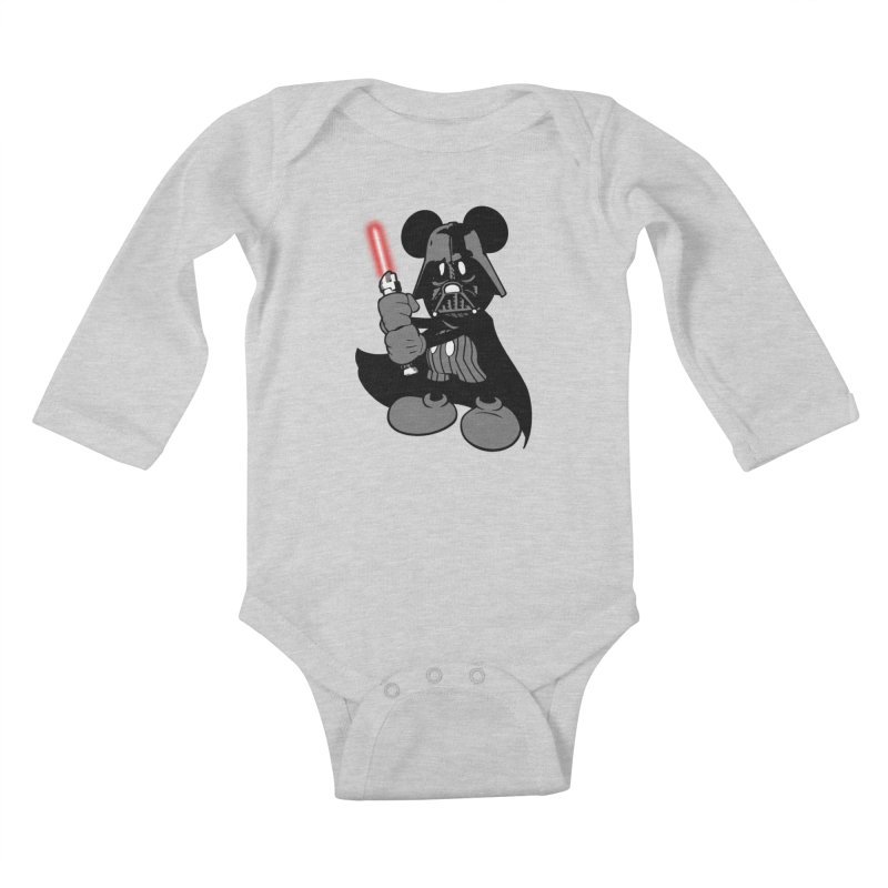 DarthMouse Kids Baby Longsleeve Bodysuit by capncrushalot's Shop