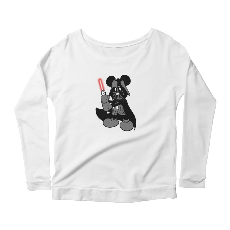 DarthMouse Women's Longsleeve Scoopneck  by capncrushalot's Shop