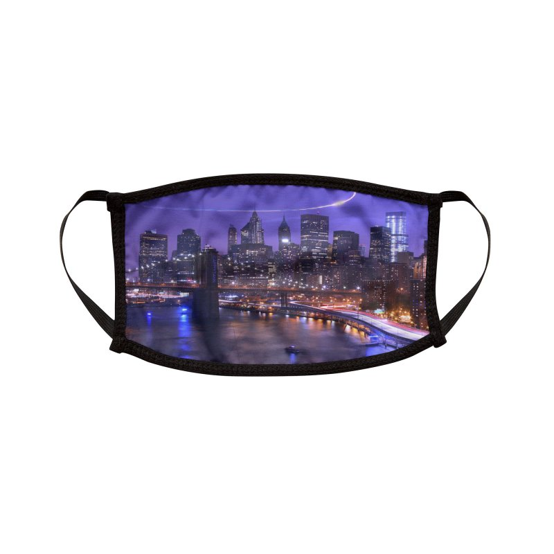 Purple City - NY Accessories Face Mask by Cappytann's Artist Shop