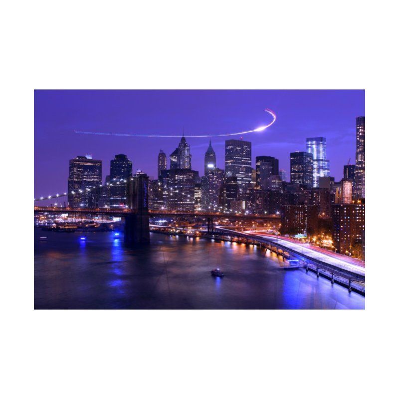 Purple City - NY Home Stretched Canvas by Cappytann's Artist Shop