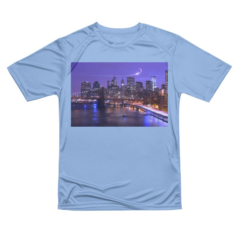 Purple City - NY Men's T-Shirt by Cappytann's Artist Shop