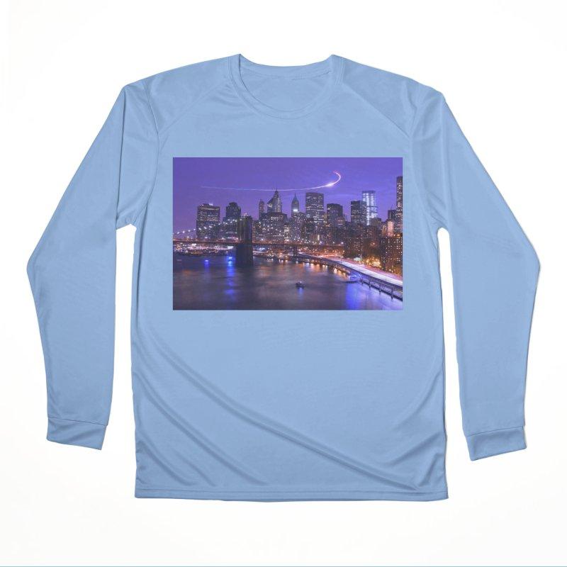 Purple City - NY Women's Longsleeve T-Shirt by Cappytann's Artist Shop