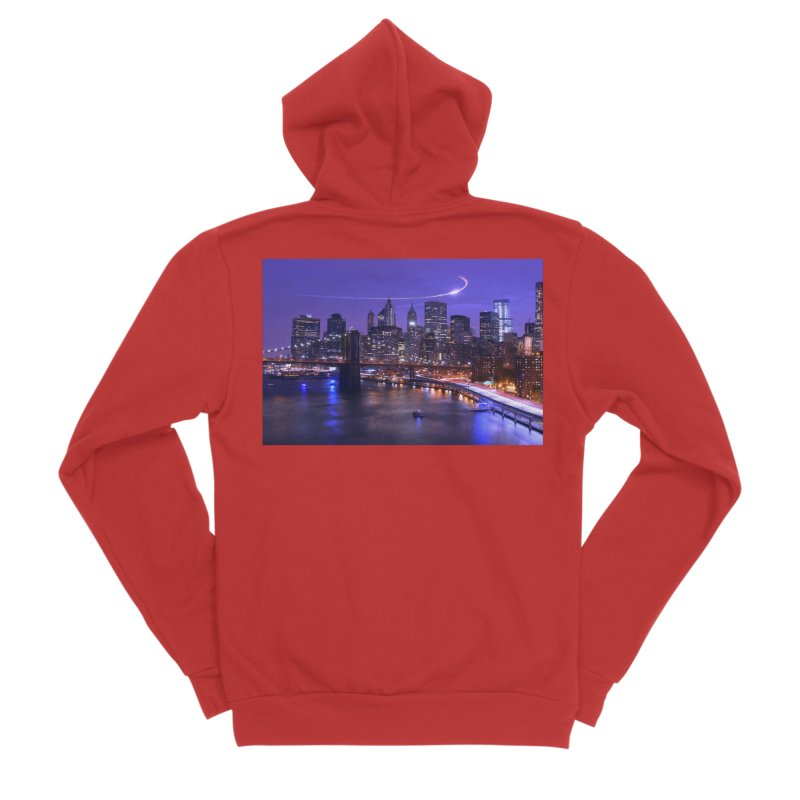 Purple City - NY Men's Zip-Up Hoody by Cappytann's Artist Shop