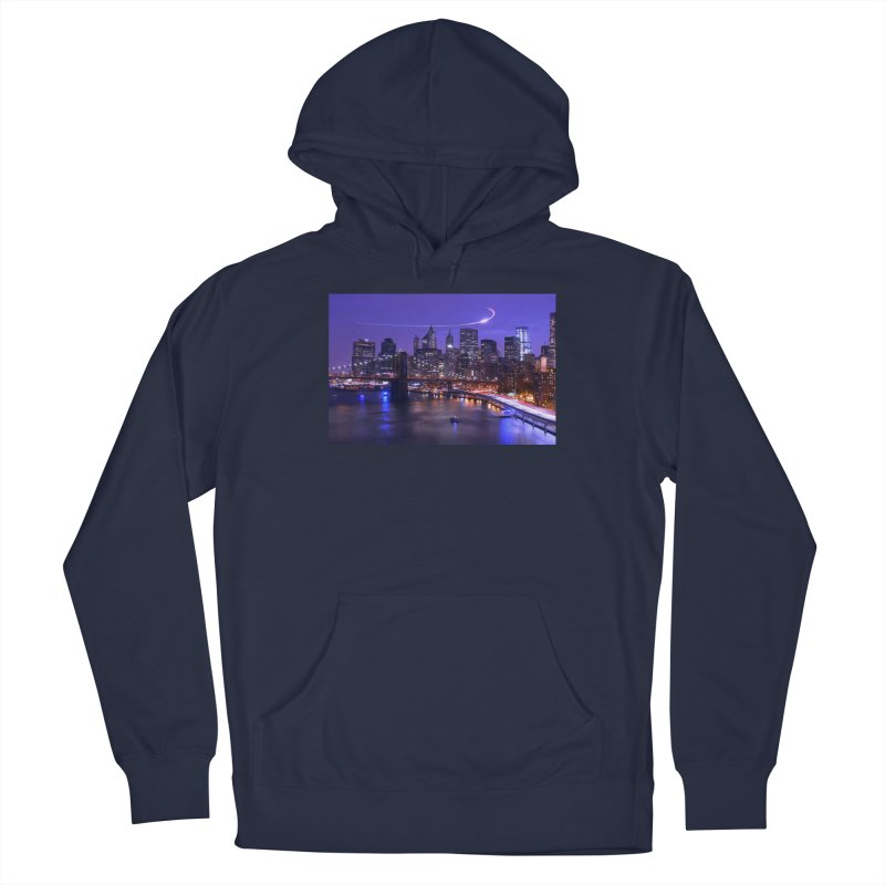 Purple City - NY Men's Pullover Hoody by Cappytann's Artist Shop