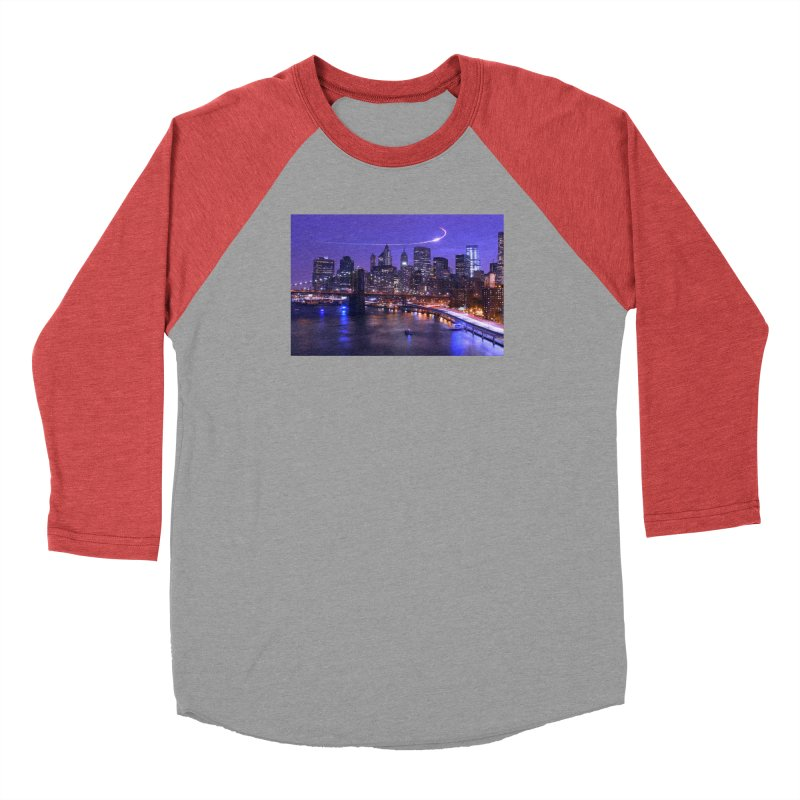 Purple City - NY Men's Longsleeve T-Shirt by Cappytann's Artist Shop