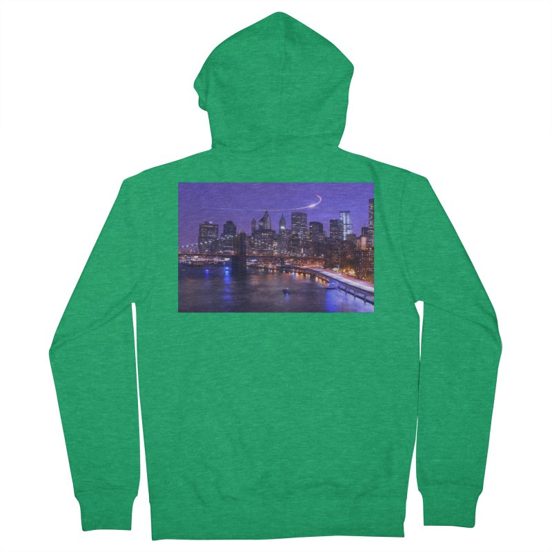 Purple City - NY Men's Zip-Up Hoody by Cappytann's Artist Shop