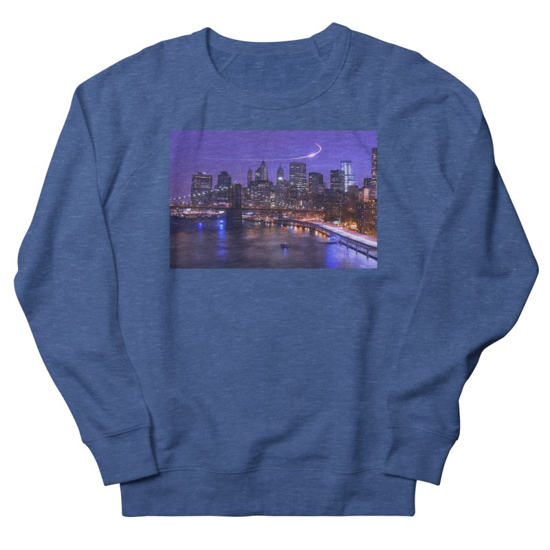 Purple City - NY Men's Sweatshirt by Cappytann's Artist Shop