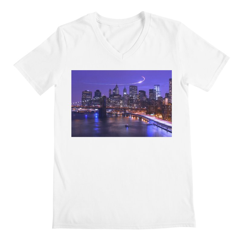 Purple City - NY Men's V-Neck by Cappytann's Artist Shop