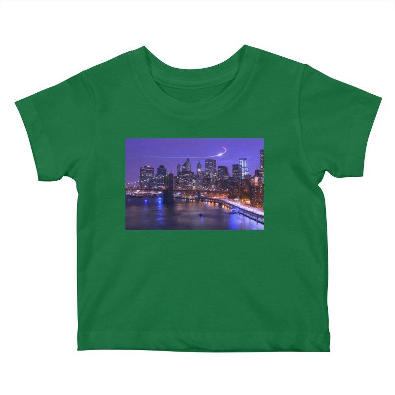 Purple City - NY Kids Baby T-Shirt by Cappytann's Artist Shop