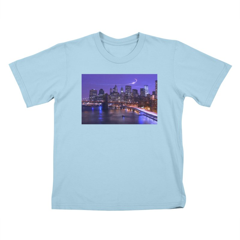 Purple City - NY Kids T-Shirt by Cappytann's Artist Shop