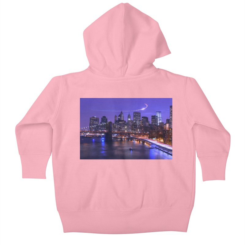 Purple City - NY Kids Baby Zip-Up Hoody by Cappytann's Artist Shop