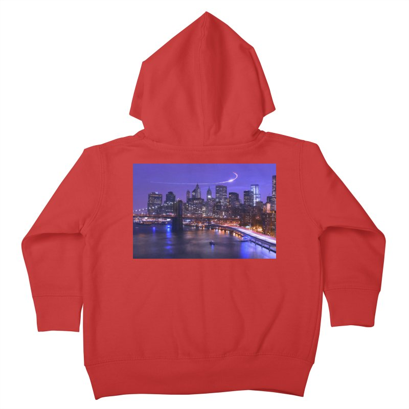 Purple City - NY Kids Toddler Zip-Up Hoody by Cappytann's Artist Shop