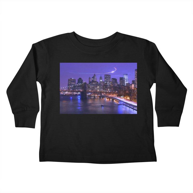 Purple City - NY Kids Toddler Longsleeve T-Shirt by Cappytann's Artist Shop