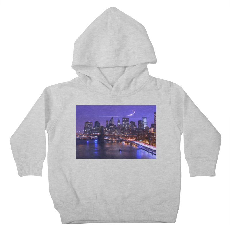 Purple City - NY Kids Toddler Pullover Hoody by Cappytann's Artist Shop