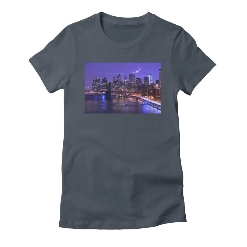 Purple City - NY Women's T-Shirt by Cappytann's Artist Shop