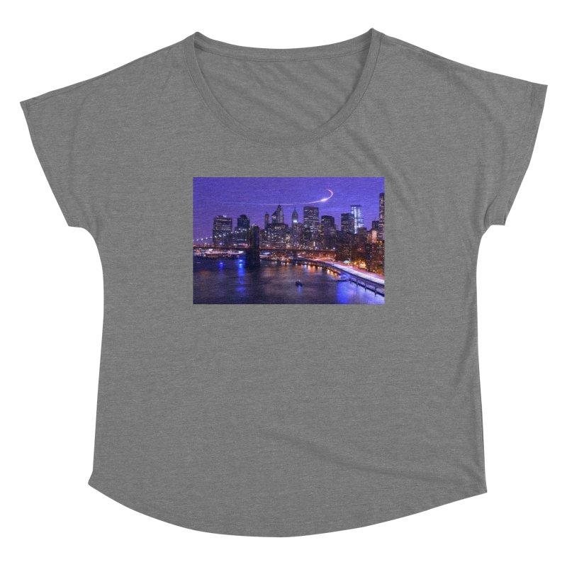 Purple City - NY Women's Scoop Neck by Cappytann's Artist Shop