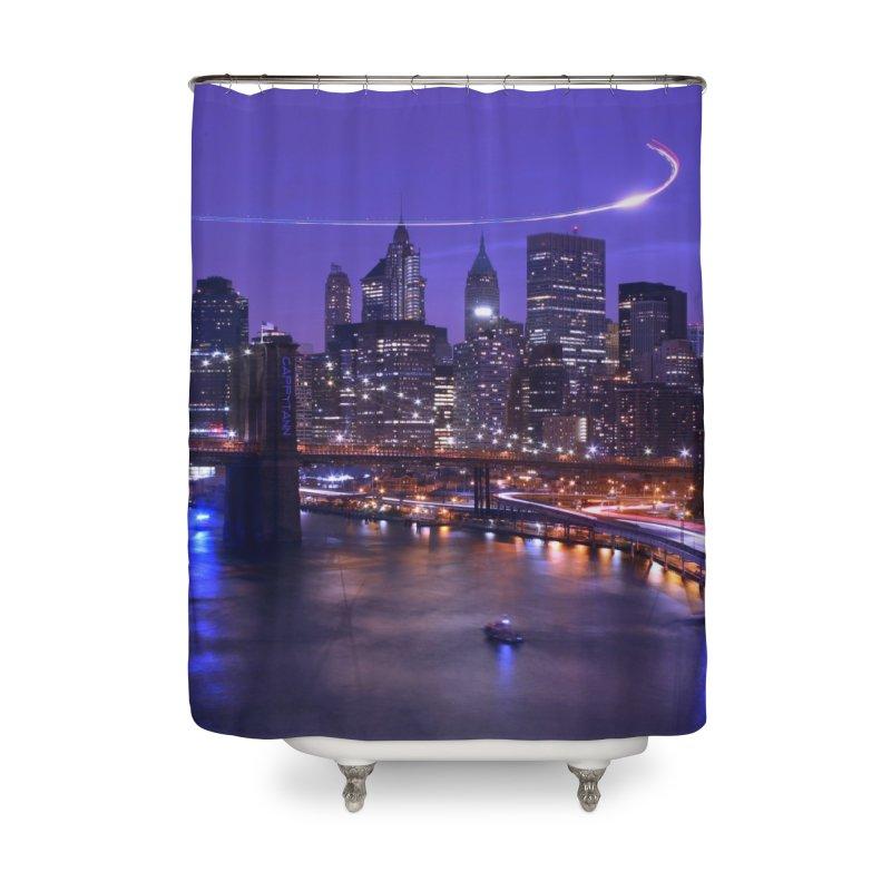 Purple City - NY Home Shower Curtain by Cappytann's Artist Shop
