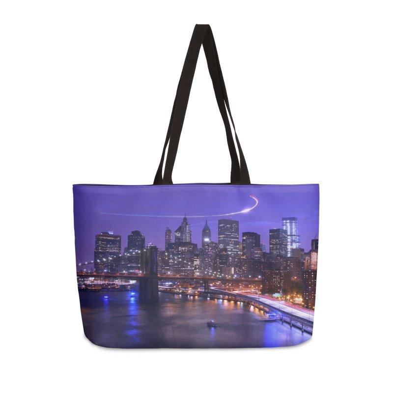 Purple City - NY Accessories Bag by Cappytann's Artist Shop