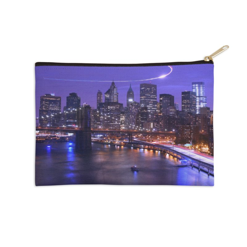 Purple City - NY Accessories Zip Pouch by Cappytann's Artist Shop