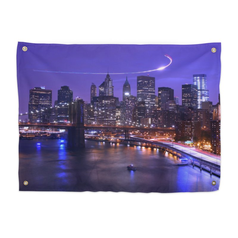Purple City - NY Home Tapestry by Cappytann's Artist Shop