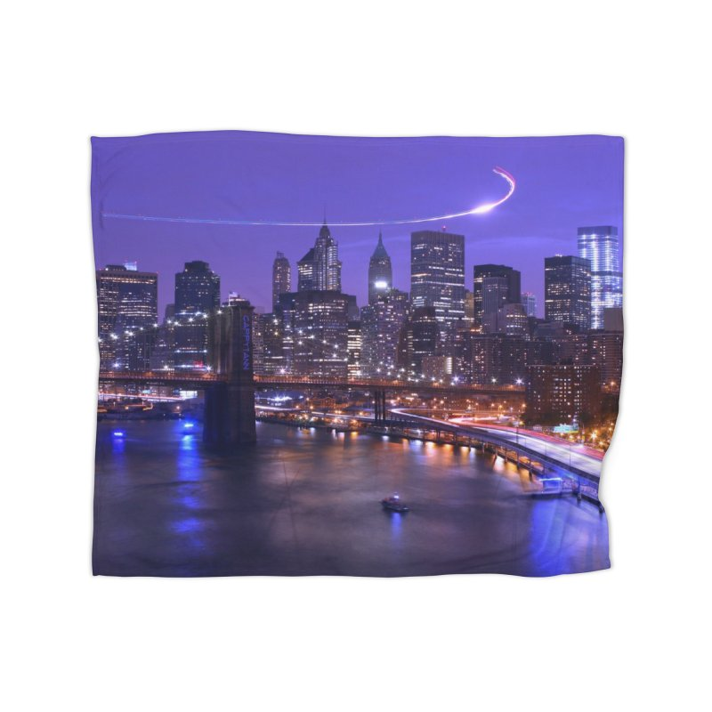 Purple City - NY Home Blanket by Cappytann's Artist Shop