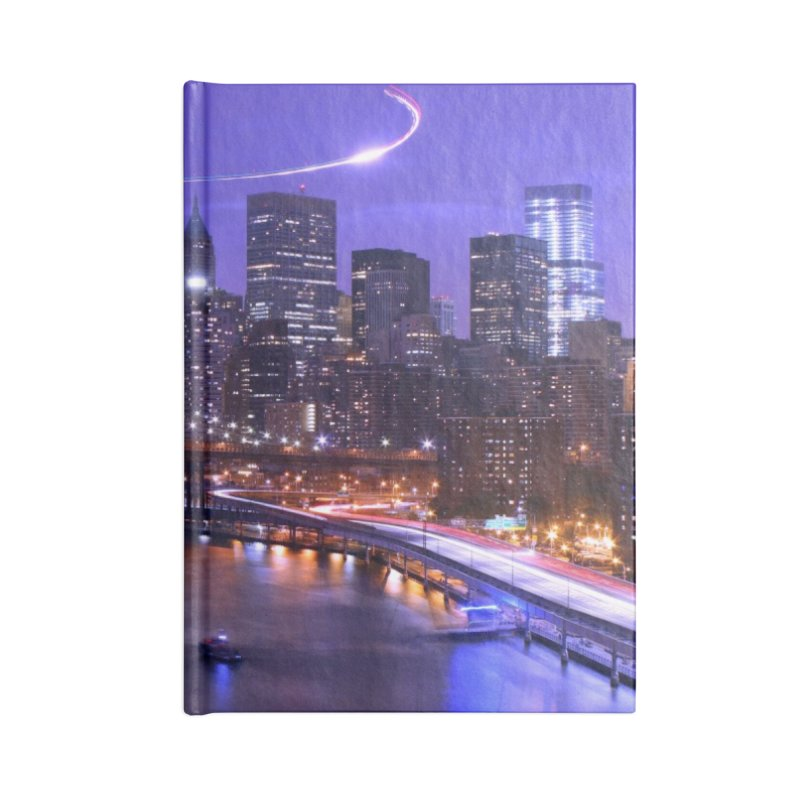 Purple City - NY Accessories Notebook by Cappytann's Artist Shop