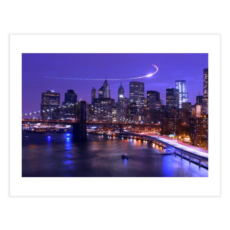 Purple City - NY Home Fine Art Print by Cappytann's Artist Shop