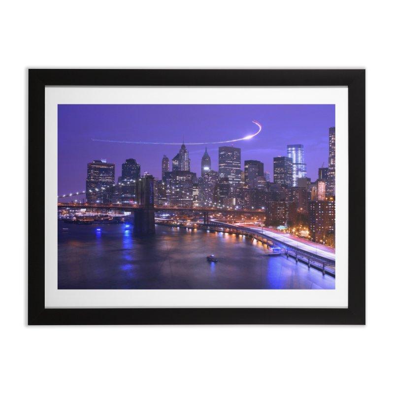 Purple City - NY Home Framed Fine Art Print by Cappytann's Artist Shop