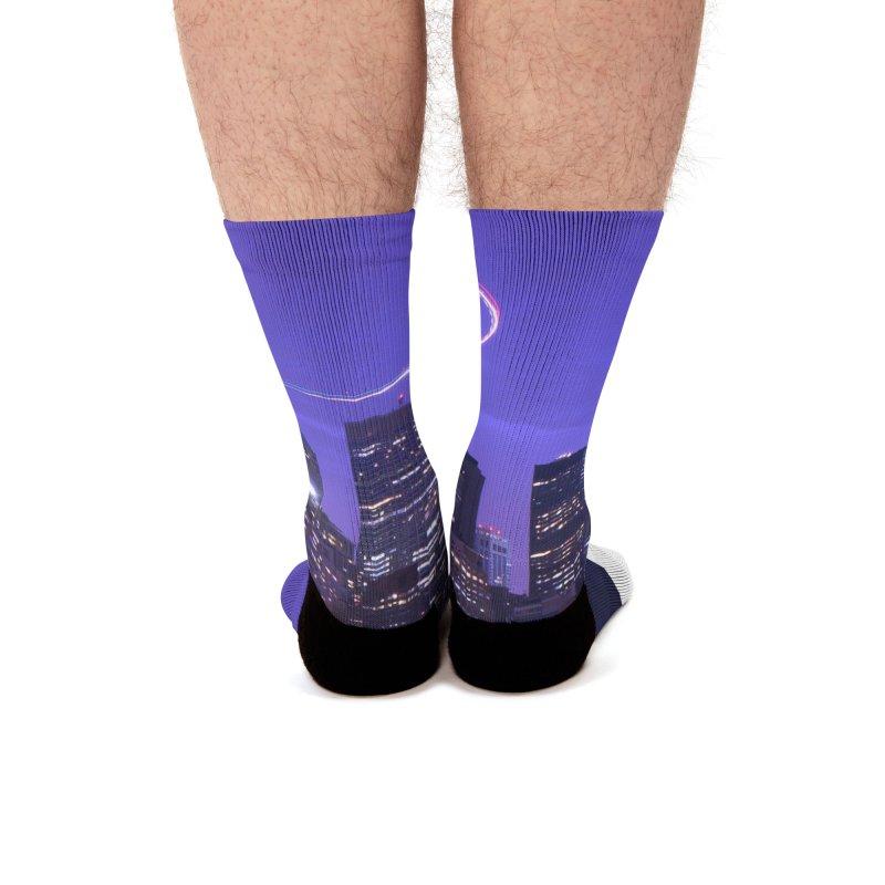 Purple City - NY Men's Socks by Cappytann's Artist Shop