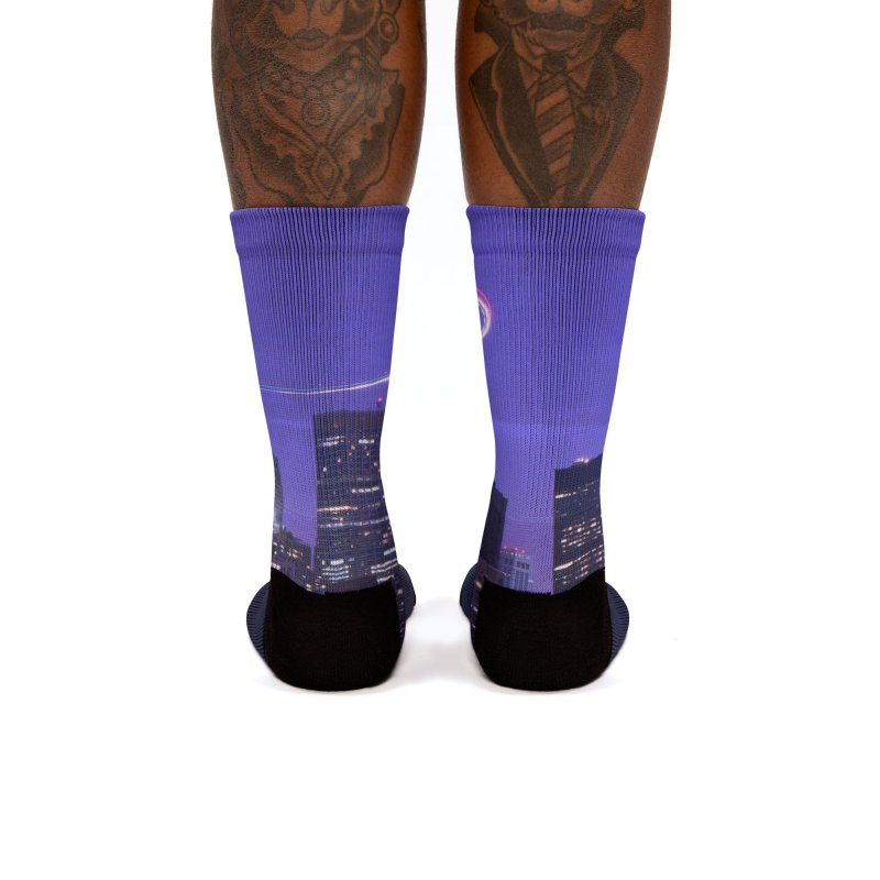 Purple City - NY Women's Socks by Cappytann's Artist Shop
