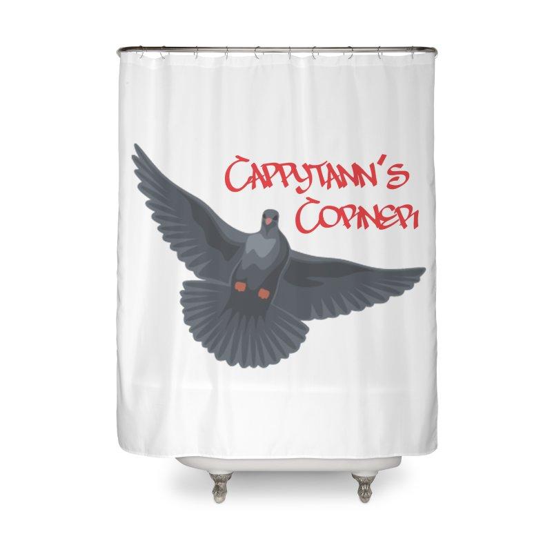 Free Bird CC Red Home Shower Curtain by Cappytann's Artist Shop