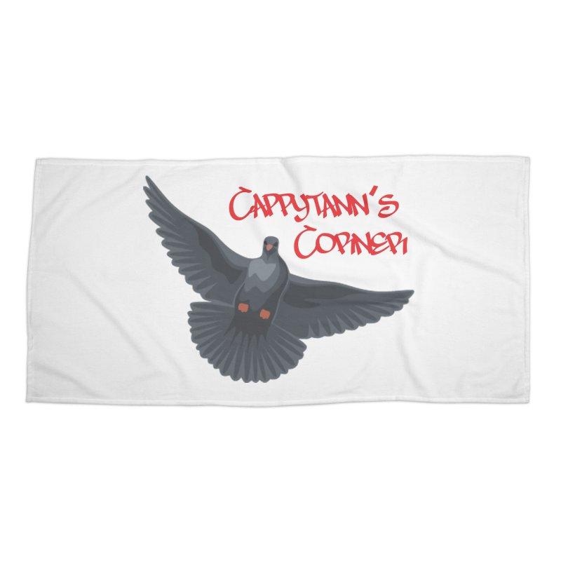 Free Bird CC Red Accessories Beach Towel by Cappytann's Artist Shop